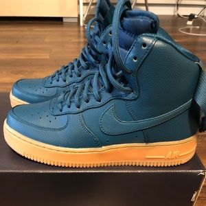 Women Air Force 1 Hi/Blue-ish green